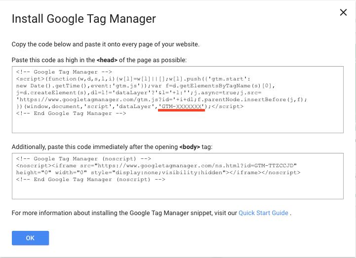 Google Tag Manager IDコード