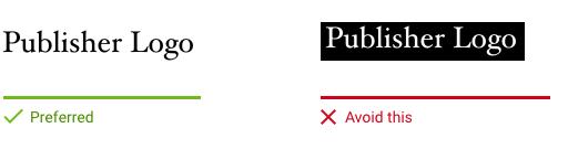 AMPロゴの背景推奨例と非推奨例