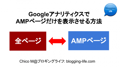 アナリティクスで、全ページとAMPページのみの表示を切り換える方法