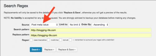 Search Regexでメタ値を検索する