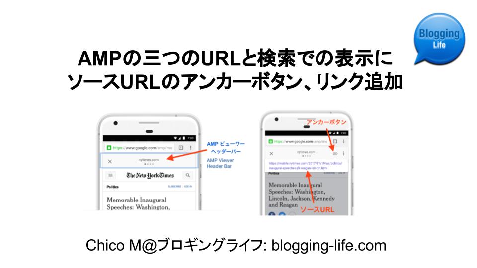 検索でのAMPページ表示にソースURLのアンカーボタン、リンク追加 バナー
