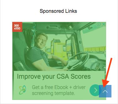 ページトップに戻るボタンと広告が重なっている