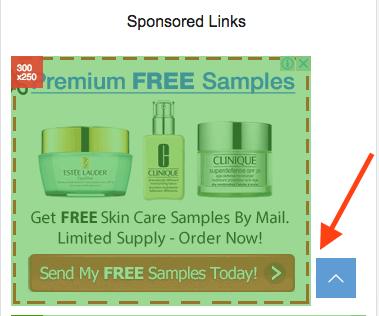 レクタングル広告を左寄せにしてボタンと重ならないようにする