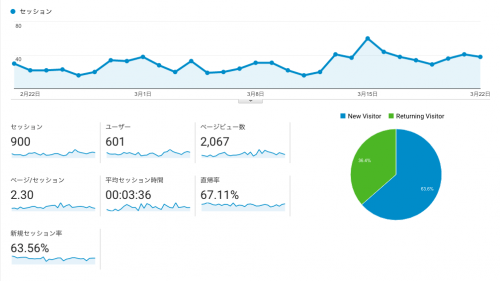 アナリティクス ユーザーサマリー レポート例(全データ含むサイト運営者)