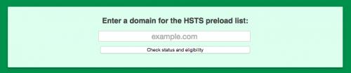 HSTS プリロード リスト 登録フォームのURL入力欄