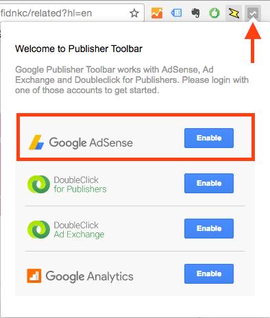 Publisher Toolbarをインストールし、AdSenseへのアクセスを許可します