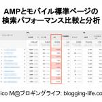 AMPの検索パフォーマンス分析:CTR(クリック率)は高い。しかし、直帰率も極めて高い!