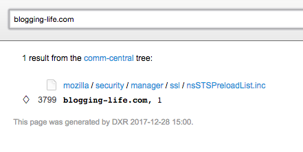 Firefox HSTS プリロードリスト検索結果