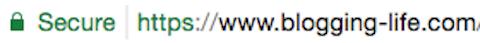 Chromeのアドレスバーに表示される安全な(SSL対応)サイトであるマーク