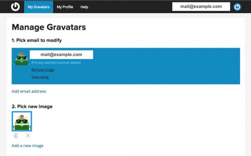 Gravatar プロフィール画像設定完了