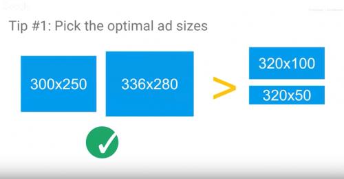 助言1: :最適な広告サイズを選んで下さい