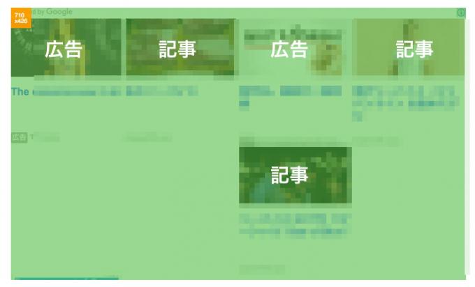 広告2個、推奨記事3個、空欄3の関連コンテンツ表示