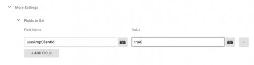 useAmpClientId の値に true をセットします