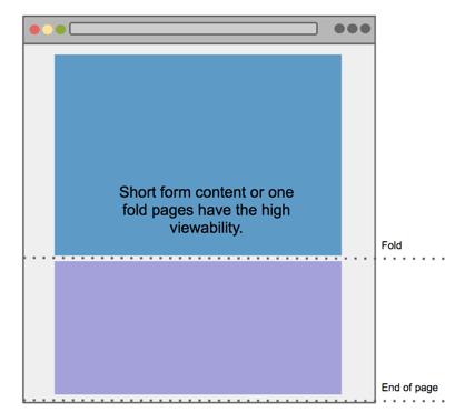 ページの長さを短くすると視認性は向上する