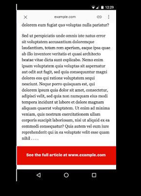 オリジナルのページへ誘導する集客用のAMP ページ例