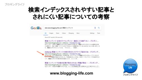 検索インデックスされやすい記事とされにくい記事の考察