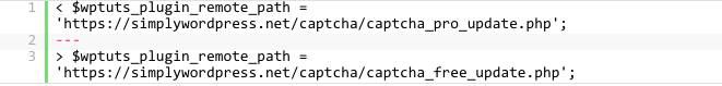 Captcha プラグインのコード