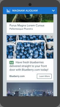 AdSense ネイティブ インフィード広告表示例