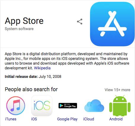 Apple App Store 検索で表示されるロゴ