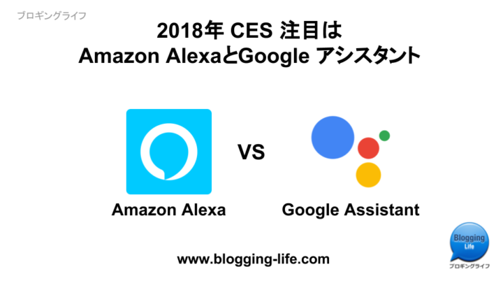 2018年CES 注目はAmazon AlexaとGoogle Assistant