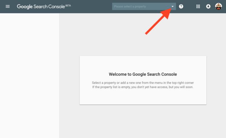 新しいSearch Consoleのホームページ