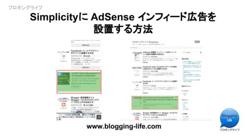 SimplicityにAdSense インフィード広告を設置する方法