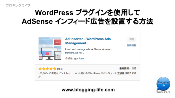 WordPress プラグインを使用してAdSense インフィード広告を設置する方法