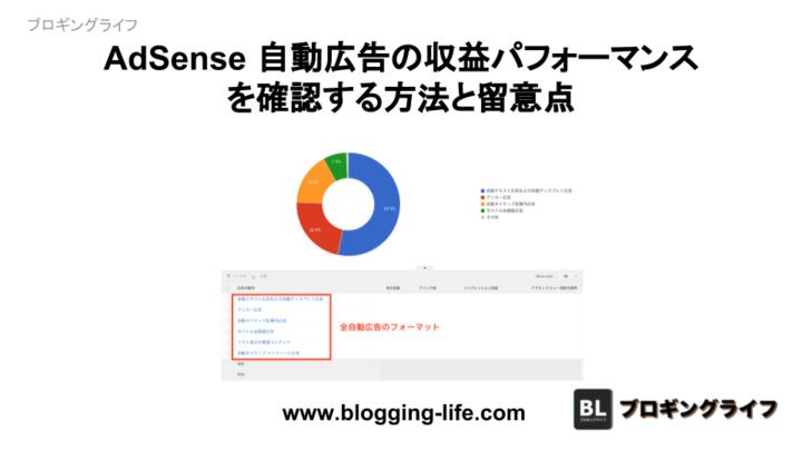 AdSense 自動広告の収益パフォーマンスを確認する方法と留意点