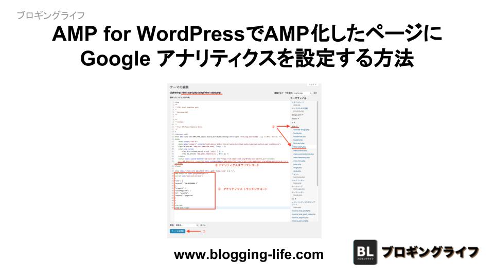 AMP for WordPressにGoogle アナリティクスを設定する方法