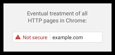 最終的なChromeでのHTTPページの取扱表示