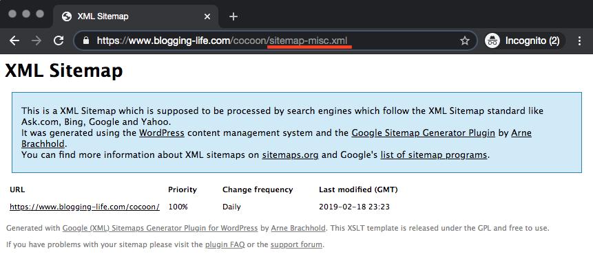 HTMLサイトマップがXMLサイトマップ内に含まれなくなりました