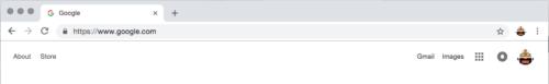 Chrome拡張機能のアイコンが表示されていない状態
