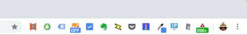 再表示されたChrome拡張機能アイコン