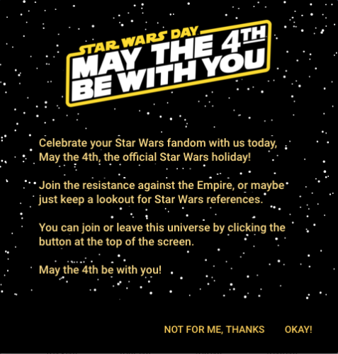 Search Consoleに表示されるMay the 4th be with you