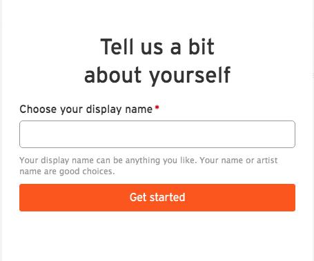 SoundCloudで表示される名前を入力します