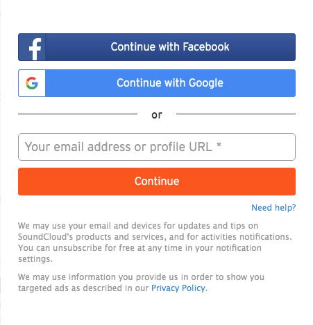 メールアドレスを入力してContinueを押します