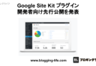 Google WordPress Site Kit プラグインの開発者向け先行公開を発表