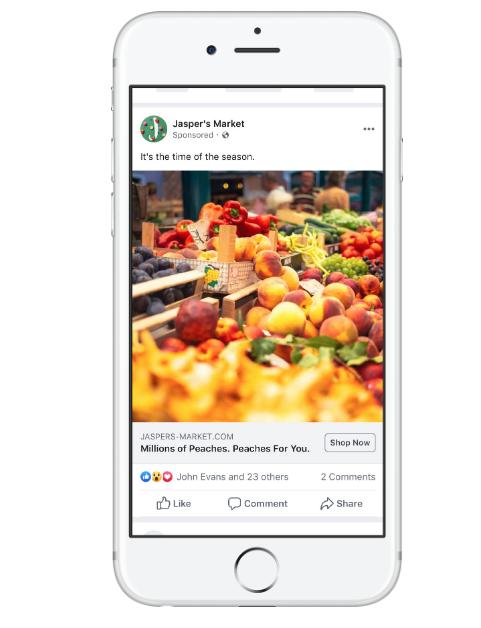 Facebook フィード広告表示例