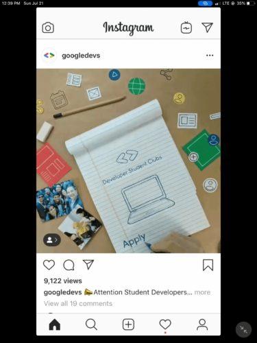 Instagramの投稿でいいねの数非表示の例