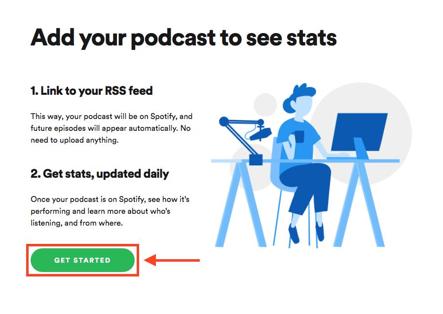 Spotifyにポッドキャストを登録する簡単な手順説明