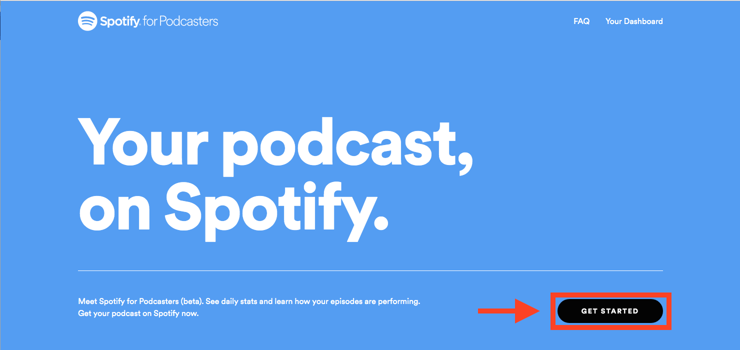 Spotify for Podcasters ホームページ
