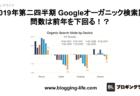2019年第二四半期のGoogle オーガニック検索訪問数は前年を下回る!?