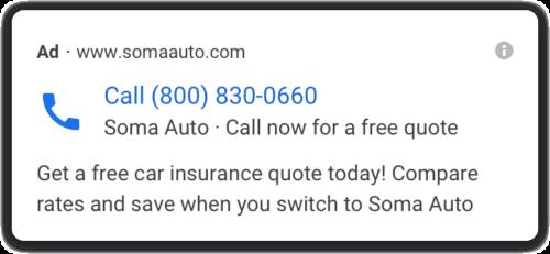 Google 電話専用広告の新デザイン
