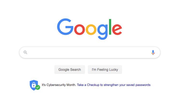パスワードチェックアップツールへのリンクがGoogle Homeに表示されています