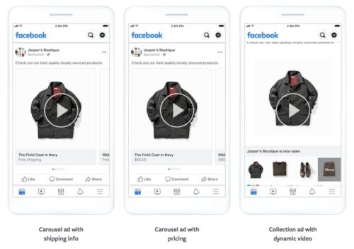動的にユーザーの興味に合わせて作成されるFacebookパーソナライズド広告の例