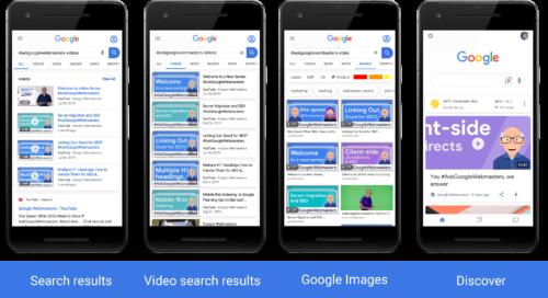 ビデオの各種検索結果表示例