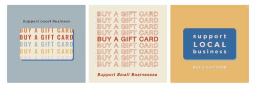 ギフトカード販売 - Facebook テンプレート
