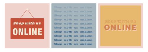 オンラインショッピングのFacebookテンプレート