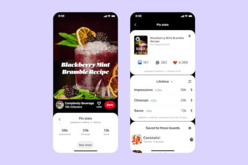 Pinterest モバイル用アナリティクスツール