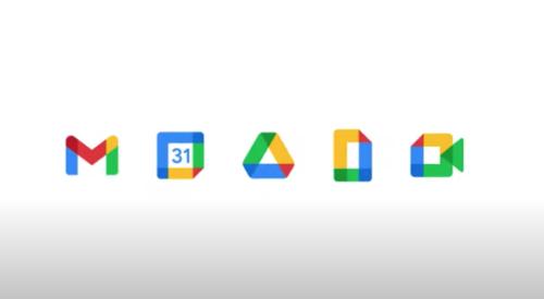 Google Workspace プロダクトの新ロゴ